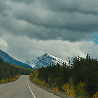 The Icefields Parkway provides a stunning view of the Canadian Rockies.