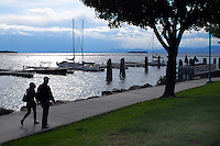 View across Lake Champlain from Burlington, Maine, USA. The landmass on the other side is New York State and the Adirondack Mountains. 201110155220..Copyright Image from Victor Patterson, 54 Dorchester Park, Belfast, United Kingdom, UK...For my Terms and Conditions of Use go to http://www.victorpatterson.com/Victor_Patterson/Terms_%26_Conditions.html