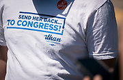 A campaign t-shirt for Representative Ilhan Omar in Minneapolis, Minnesota, U.S., on Tuesday, Aug. 11, 2020. Photographer: Ben Brewer/Bloomberg