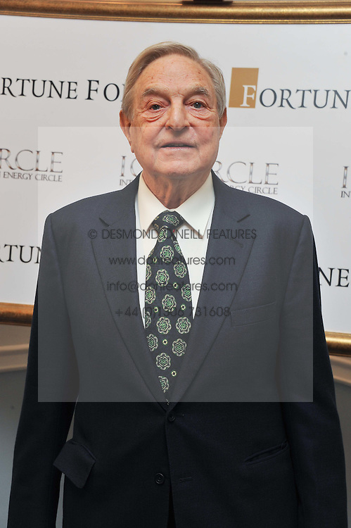 GEORGE SOROS at the 4th Fortune Forum Summit held at The Dorchester Hotel, Park Lane, London on 4th December 2012.