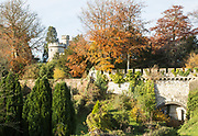 Towers, turrets and walls of Devizes castle, Devizes, Wiltshire, England, UK
