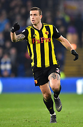 Watford's Daryl Janmaat in action during the Premier League match at the Cardiff City Stadium.