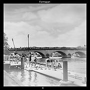 Henley-On-Thames, Berkshire, UK., Thursday,  03/06/2021, Leander Men's Club Eight, docking at the Leander Club pontoon after on training outing on Henley Reach,[Mandatory Credit © Peter Spurrier/Intersport Images],
