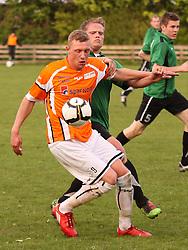 FODBOLD: Casper Sørensen (Helsingør) under kampen i Ekstra Bladet Cup mellem B73, Slagelse og Elite 3000 Helsingør den 26. maj 2010 på Stadion Vest, Slagelse. Foto: Claus Birch