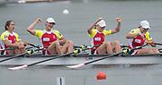 Lucerne, SWITZERLAND.<br /> <br /> POL W4X Women's Quadruple Sculls, Final. Finals day. 2016 FISA WCII. Lake Rotsee<br /> <br /> Sunday  29/05/2016<br /> <br /> [Mandatory Credit; Peter SPURRIER/Intersport-images]