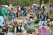 Nederland, Nijmegen, 30-4-2013, 30 aprilVrijmarkt in het Goffertpark, de Goffert, op de dag dat Koningin Beatrix afscheid nam en Prins Willem-Alexander koning werd.Foto: Flip Franssen