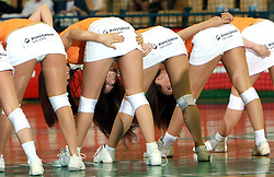 Dance group Ladies at handball game between women national teams of Slovenia and Belorussia, second qualification game for the European Chamionship 2009, on June 7, 2008, in Arena Zlatorog, Celje, Slovenija. Win of Belorussia, who qualified for EC 2009 in Macedonia. (Photo by Vid Ponikvar / Sportal Images)