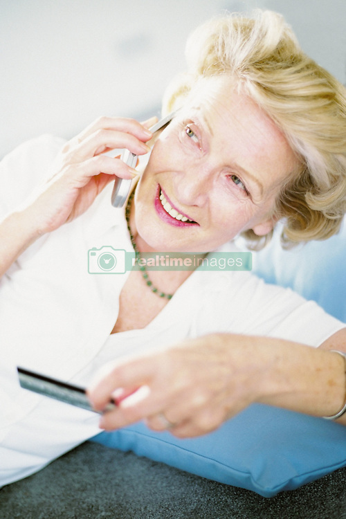 Dec. 14, 2012 - Woman talking on cellphone (Credit Image: © Image Source/ZUMAPRESS.com)
