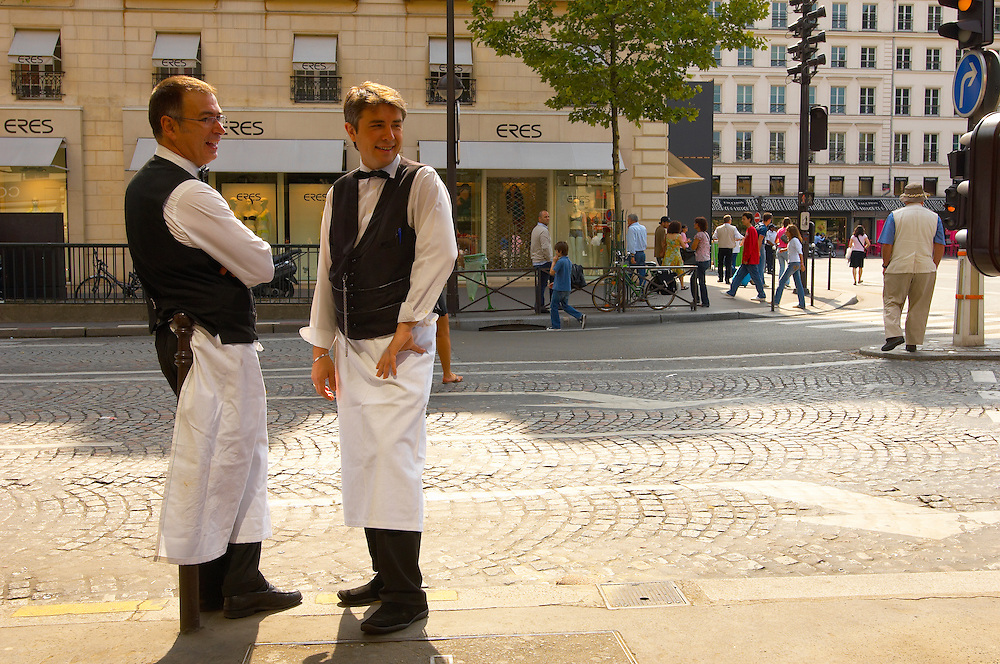 French Waiters - Paris France .<br /> <br /> Visit our FRANCE HISTORIC PLACES PHOTO COLLECTIONS for more photos to download or buy as wall art prints https://funkystock.photoshelter.com/gallery-collection/Pictures-Images-of-France-Photos-of-French-Historic-Landmark-Sites/C0000pDRcOaIqj8E