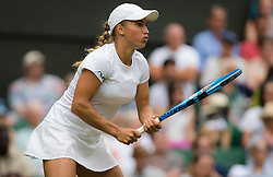 July 1, 2019 - London, GREAT BRITAIN - Yulia Putintseva of Kazakhstan in action during the first round of the 2019 Wimbledon Championships Grand Slam Tennis Tournament against Naomi Osaka of Japan (Credit Image: © AFP7 via ZUMA Wire)