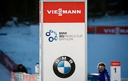Logo  during Women 10 km Pursuit at day 3 of IBU Biathlon World Cup 2015/16 Pokljuka, on December 19, 2015 in Rudno polje, Pokljuka, Slovenia. Photo by Vid Ponikvar / Sportida