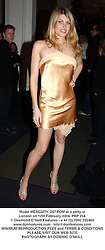 Model MEREDITH OSTROM at a party in London on 12th February 2004.PRP 254