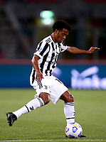BOLOGNA, ITALY - MAY 23: Juan Guillermo Cuadrado of Juventus FC in action ,during the Serie A match between Bologna FC and Juventus FC at Stadio Renato Dall'Ara on May 23, 2021 in Bologna, Italy.(Photo by MB Media/Getty Images)
