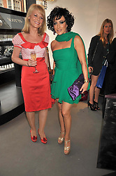 Left to right, SUSAN DAVIES and NANCY DELL'OLIO at a party to celebrate the new Stephen Webster store on Mount Street, London W1 followed by a dinner at Maddox, Mill Street, London on 24th June 2009.