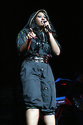 Jasmine Sullivan opens for Maxwell at Maxwell Concert at Radio City Music Hall on October 9, 2008