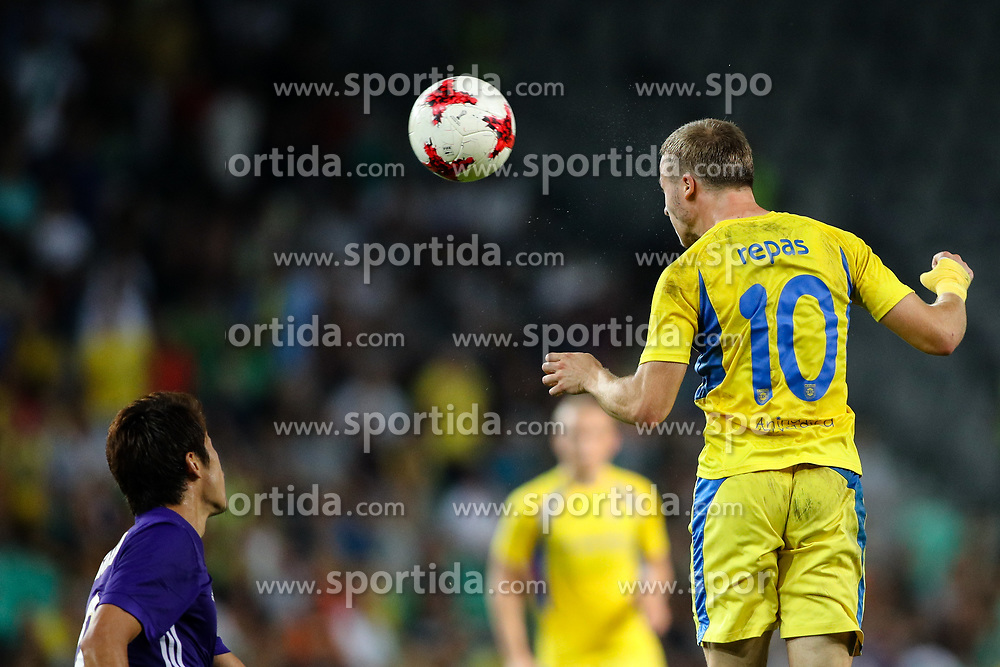 Jan Repas of NK Domzale during football match between NK Domzale and Olympique de Marseille in First game of UEFA Europa League playoff round, on August 17, 2017 in SRC Stozice, Ljubljana, Slovenia. Photo by Morgan Kristan / Sportida