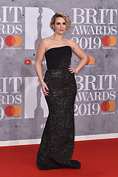 February 20, 2019 - London, United Kingdom of Great Britain and Northern Ireland - Claire Richards arriving at The BRIT Awards 2019 at The O2 Arena on February 20, 2019 in London, England  (Credit Image: © Famous/Ace Pictures via ZUMA Press)