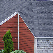 7/3/11 -- Rt 129 , Maine. Bailey Property detail..A stretch of the road not often traveled. Spanning communities, classes and styles ~ of farmers and fishermen, retired and plugging, the elite and working waterfront. (This area has huge potential for great photojournalism).  Photo by Roger S. Duncan.