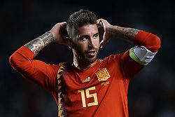 September 11, 2018 - Elche, Alicante, Spain - Sergio Ramos of Spain celebrates a goal during the UEFA Nations League A group four match between Spain and Croatia at Martinez Valero  on September 11, 2018 in Elche, Spain  (Credit Image: © David Aliaga/NurPhoto/ZUMA Press)