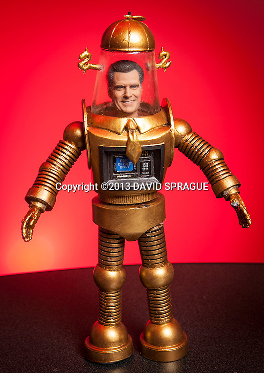 Presidential monster action figures Romney the Robot. Shot Feb. 5th,  2013Photo by David Sprague ©2013