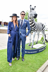 Mille Mackintosh and Hugo Taylor at The Investec Derby, Epsom Racecourse, Epsom, Surrey, England. 02 June 2018.