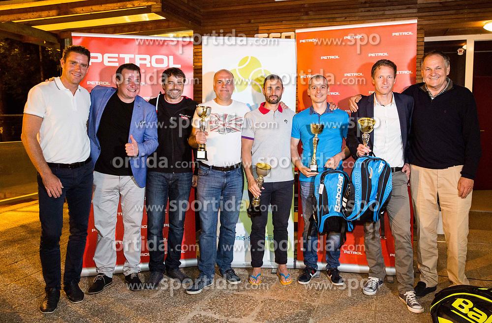 Gregor Krusic, Rado Mulej, Rok Vodnik, Goran Belic, Aljaz Kos, Blaz Jakic, Uros Mesojedec and Marko Umberger at  Petrol VIP tournament 2018, on May 24, 2018 in Sports park Tivoli, Ljubljana, Slovenia. Photo by Vid Ponikvar / Sportida