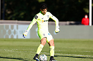 Amir Abedzadeh shoots the ball during the Liga NOS match between Belenenses SAD and Maritimo at Estadio do Jamor, Lisbon, Portugal on 17 April 2021.