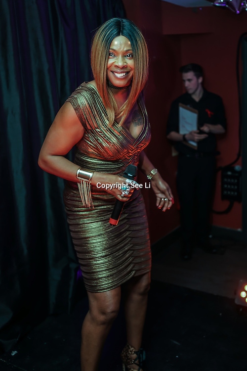 Sandi Bogle from Gogglebox fame takes the stage at Muse in Soho for one night to help raise money for GMFA – The gay men's health charity and their HIV prevention and stigma-challenging work on 1st December 2016 in Soho,London,UK. Photo by See Li