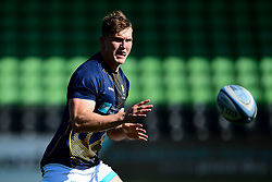 Ted Hill of Worcester Warriors warms up prior to kick off - Mandatory by-line: Ryan Hiscott/JMP - 13/09/2020 - RUGBY - Twickenham Stoop - London, England - London Irish v Worcester Warriors - Gallagher Premiership Rugby