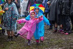 Carrie Watson (5)  and Cassi Watson (7), from East Whitburn. Wet Wet Wet play the main stage. Party at the Palace 2019.