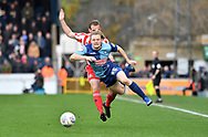 Wycombe Wanderers Alex Samuel (25) is fouled by Sunderland midfielder Lee Cattermole (6) *** during the EFL Sky Bet League 1 match between Wycombe Wanderers and Sunderland at Adams Park, High Wycombe, England on 9 March 2019.