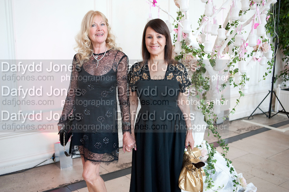 DEBBIE MOORE; ARLENE PHILLIPS, English National Ballet Summer party.  All proceeds from the Summer Party go towards English National Ballet. The Orangerie. Kensington Palace. London. 29 June 2011. <br /> <br />  , -DO NOT ARCHIVE-© Copyright Photograph by Dafydd Jones. 248 Clapham Rd. London SW9 0PZ. Tel 0207 820 0771. www.dafjones.com.