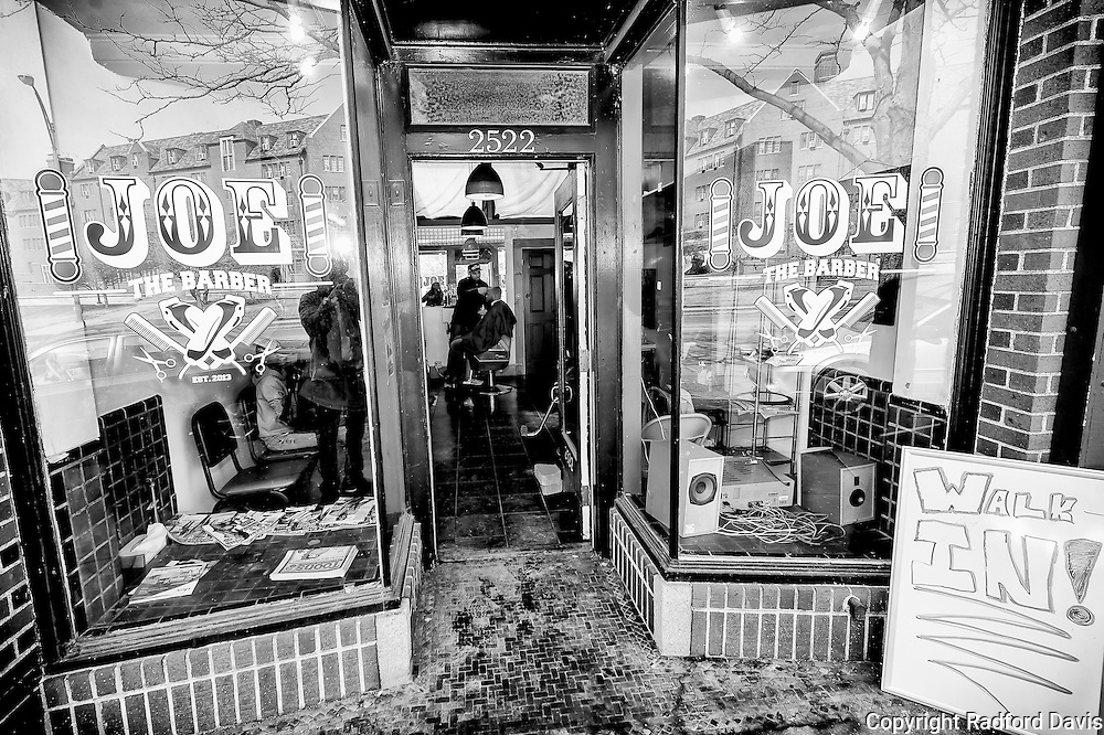 Joe the Barber has a busy shop just across from the university campus. The clientel look for modern styles, though some older professors visit as well.