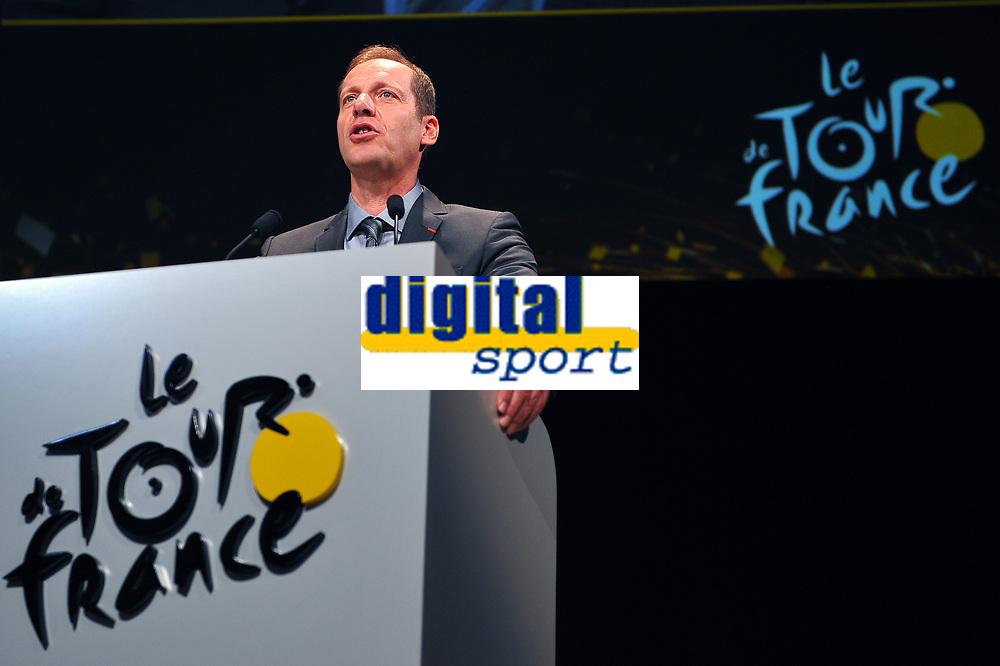 Christian PRUDHOMME (Fra) TDF Director ASO during the Presentation of Tour de France 2015, in Paris, France, on October 22, 2014. Photo Tim de Waele / DPPI