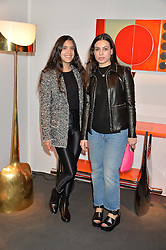 Left to right, NOOR FARES and FLAVIE AUDI at the PAD London 2015 VIP evening held in the PAD Pavilion, Berkeley Square, London on 12th October 2015.