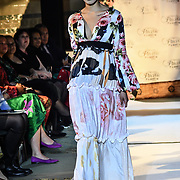 Designer Jadeine Whiteside (Fiji) showcases its latest collection with Her Excellency HE Hon. Titilupe Fanetupouvava'u Tu'ivakano of Tonga High Commissioner UK attend the London Pacific Fashion Week at one Whitehall, London, UK. 25 Feb 2019.