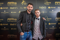 Matjaz Rozman and Rudi Pozeg Vancas during SPINS XI Nogometna Gala 2019 event when presented best football players of Prva liga Telekom Slovenije in season 2018/19, on May 19, 2019 in Slovene National Theatre Opera and Ballet Ljubljana, Slovenia. ,Photo by Urban Meglic / Sportida