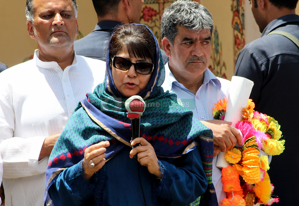 May 25, 2017 - Kulgam, Jammu And Kashmir, India - Jammu and Kashmir Chief Minster Mehbooba Mufti visited various villages of south Kashmir's Kulgam district.Assures people she fulfill their demands. (Credit Image: © Aasif Shafi/Pacific Press via ZUMA Wire)