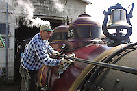 Steam engine #45, California Western Railroad's Skunk Train