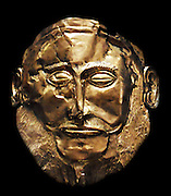 The Mask of Agamemnon is an artefact discovered at Mycenae in 1876 by Heinrich Schliemann. The mask is a gold funeral mask. Schliemann believed that he had discovered the body of the legendary Greek leader Agamemnon. today archaeological research suggests the mask is from 1550–1500 B.C.E