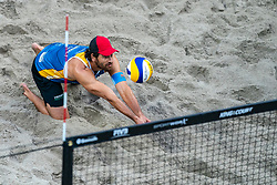Marco Grimalt CHL in action during the third day of the beach volleyball event King of the Court at Jaarbeursplein on September 11, 2020 in Utrecht.