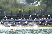 Lucerne SWITZERLAND. Senior World Rowing Championships 2001.August 2001 - Lake Rotsee..SUN - Finals day .<br /> CAN M8+. crew. Bow. Matt SWICK, Jeff POWELL,  Henry HERING, Tom HERSCHMILLER,  Larry VARGA, Andrew HOSKINS, Joe STANKEVICIUS, Kevin LIGHT, Cox Brian PRICE.<br /> <br /> [Mandatory Credit; Peter SPURRIER/Intersport Images]<br /> <br /> 20010819 FISA World Rowing Championships, Lucerne, SWITZERLAND