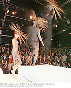 Philip Treacy fashion show. 21/2/99. © Copyright Photograph by Dafydd Jones<br /> 66 Stockwell Park Rd. London SW9 0DA Tel 0171 733 0108