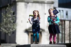 Young spectators during the 2019 London Landmarks Half Marathon.