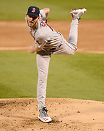CHICAGO - MAY 03:  Chris Sale #41 of the Boston Red Sox pitches against the Chicago White Sox on May 3, 2019 at Guaranteed Rate Field in Chicago, Illinois.  (Photo by Ron Vesely)  Subject:  Chris Sale
