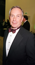 MR MICHAEL BLOOMBERG of Bloomberg business <br /> reports, at a dinner in London on 3rd May 2000.ODH 153