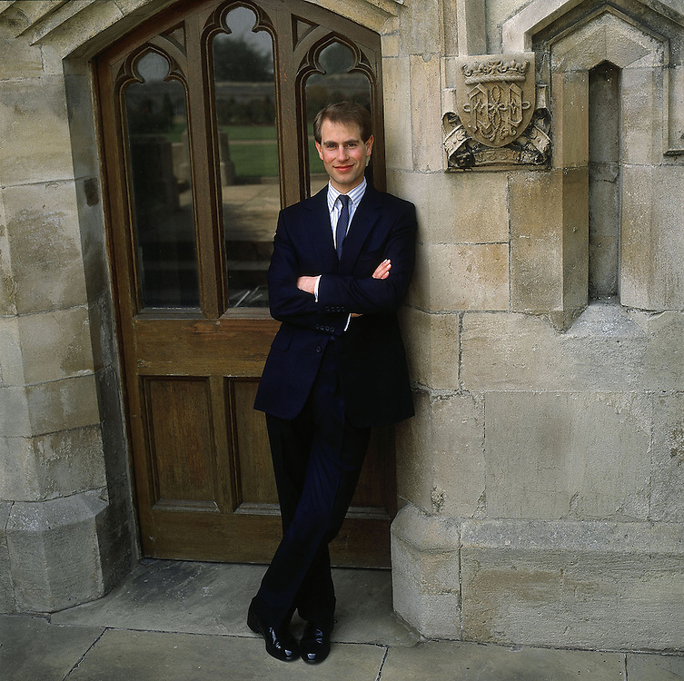 The Earl of Wessex, Prince Edward seen in the grounds of Windsor Castle in 1987. Exclusive photograph by Jayne Fincher
