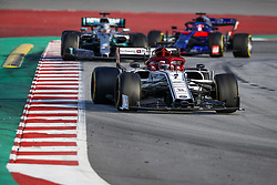 February 20, 2019 - Barcelona, Spain - RAIKKONEN Kimi (fin), Alfa Romeo Racing C38, HAMILTON Lewis (gbr), Mercedes AMG F1 GP W10 Hybrid EQ Power+, KVYAT Daniil (rus), Scuderia Toro Rosso Honda STR14, action during Formula 1 winter tests from February 18 to 21, 2019 at Barcelona, Spain - Photo  /  Motorsports: FIA Formula One World Championship 2019, Test in Barcelona, (Credit Image: © Hoch Zwei via ZUMA Wire)
