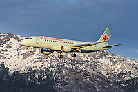 Air Canada Embraer 190 on final approach for landing