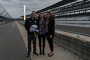 April 1, 2016; Indianapolis, Ind.; The UAA coaches, Ryan McCarthy, Alysa Horn and Shaina Afoa pose for a photo at the Women's Final Four Salute at the Indianapolis Motor Speedway.